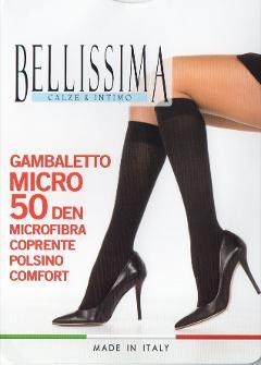 3 paia Gambaletto microfobra 50den BELLISSIMA