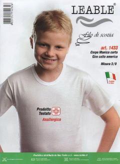 3 PEZZI Leable maglia mezza manica Bimbo Leable Art. 1433/1440