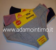 Offerta 12 paia- 8 paia- 4 paia Slip donna Adamo art.660
