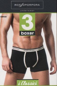 Offerta 3 paia Boxer uomo cotone elasticizzato Rossoporpora Art. UB450