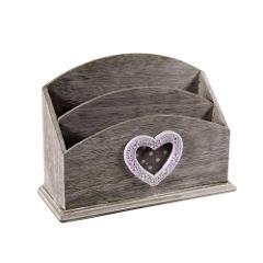Porta Lettre in legno con cuore MDF Cod. 702426