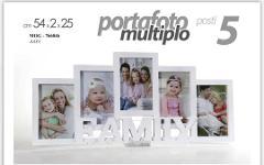 Porta Foto multiplo 5 posti FAMILY MDF Cod. 766046