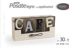 Porta posate in legno MDF Cod. 807480