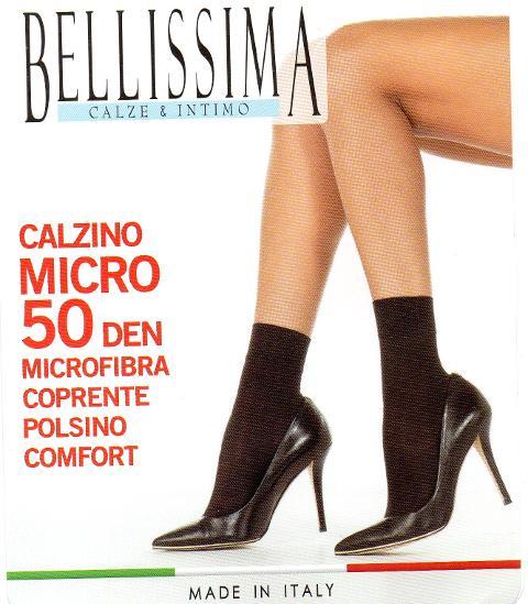 Calzino Micro  BELLISSIMA 50 Den ( confezione da 3 pezzi)