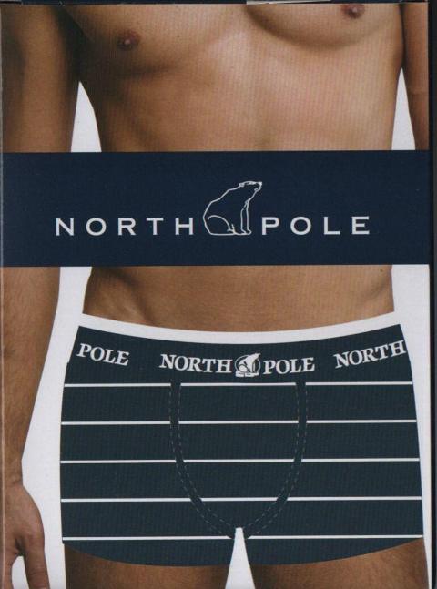 6 paia boxer uomo in cotone elasticizzato a righe North Pole con  righe