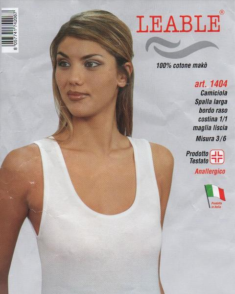 Camiciola spalla Larga LEABLE Art.1404/1542