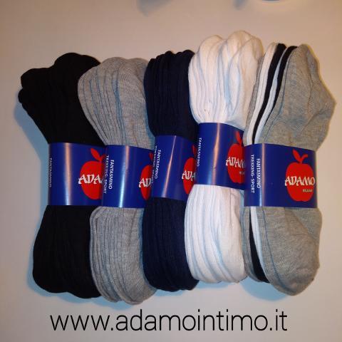 6 Paia Fantasmini Adamo in cotone elasticizzato Adamo