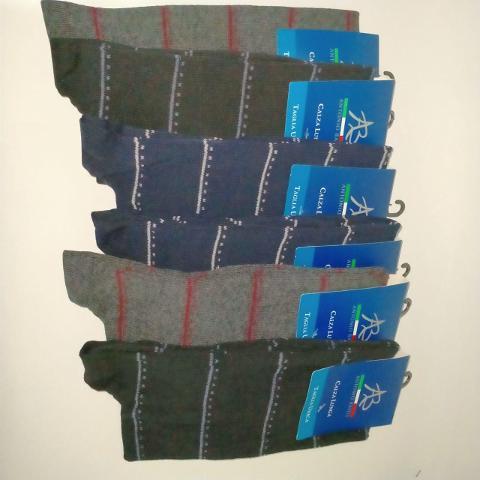 Copia di 6 paia Calza uomo lunga Caldo Cotone. Antonio Basile art. ABC0002 RIGHE Sottili