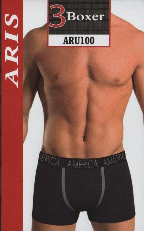 OFFERTA  3 Paia Boxer UOMO  ARIS  Art. ARU100 Unico fondo