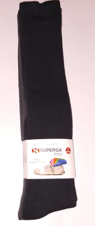 Offerta 3 paia calze uomo Lunga SPUGNA TERMICA SUPERGA art. S471L