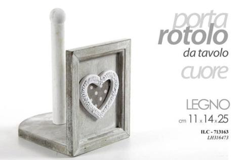 Porta Rotolo in legno  cod. 713163