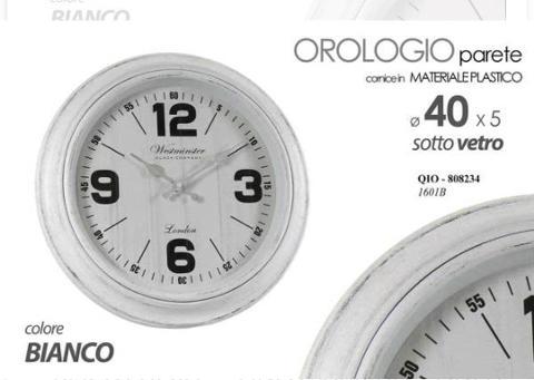 Orologio da parete shabby bianco  cod.808234