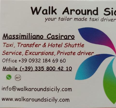 Walk Around Sicily - Taxi & Limousine service in Sicily