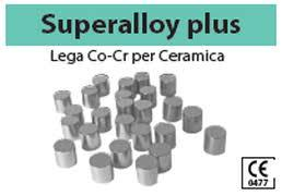LEGA SUPERALLOY PLUS CR-CO ( ARGELLOY NP SPECIAL) 0,65 euro al grammo BARTOLINI DENTAL GROUP SUPERALLOY PLUS