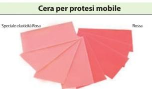 CERA PER PROTESI MOBILE 500 gr ROSSA/ROSA BARTOLINI  DENTAL GROUP