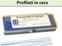 PROFILATI IN CERA misure 0.3 - 0.5 - 0.7 - 0.8 - 1.0 - 1.25 - 1,5 mm BARTOLINI DENTAL GROUP misure 0.3 - 0.5 - 0.7 - 0.8 - 1.0 - 1.25 - 1,5 mm