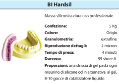 HARDSIL 95 ShoreA conf. 5 Kg SILICONE BARTOLINI  DENTAL GROUP