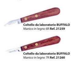 COLTELLI DA LABORATORIO BUFFALO 21259/21260 MANICO LEGNO BARTOLINI DENTAL GROUP 21259/21260 MANICO LEGNO