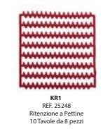 Preformati in cera Ritenzione a Pettine KR1 BARTOLINI DENTAL GROUP Pettine KR1