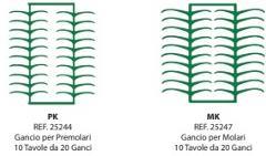 Preformati in cera Gancio per Premolari PK/MK BARTOLINI DENTAL GROUP PK/MK