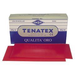 CERA TENATEX - Confezione da 500 g colore rosso KEMDENT Confezione da 500 g colore rosso