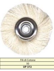 Spazzola in fili cotone C.M. diam 50 mm Cf. 10 pz BARTOLINI DENTAL GROUP UP372