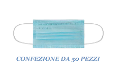 MASCHERINE CHIRUGICHE SURGICAL TYPE 2R (IIR) -  CONFEZIONE DA 50 PEZZI