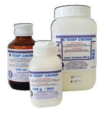BI TEMP CROWN (RESINE PER PROVVISORI) Trial KIT 2 DA3 100g + DA3,5 100g + Liquido 100ml  BARTOLINI DENTAL GROUP BI TEMP CROWN