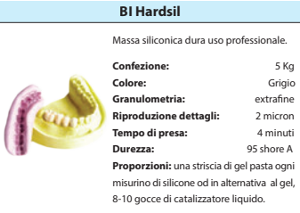 HARDSIL 95 ShoreA conf. 5 Kg SILICONE BARTOLINI DENTAL GROUP HARDSIL 95 ShoreA conf. 5 Kg - Tripi (Messina)
