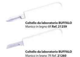 COLTELLI DA LABORATORIO BUFFALO 21259/21260 MANICO METALLO BARTOLINI DENTAL GROUP 21259/21260 MANICO METALLO - Tripi (Messina)