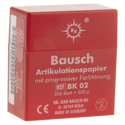 CARTA ARTICOLAZIONE ROSSA - 200 µ -  BAUSCH 300pz