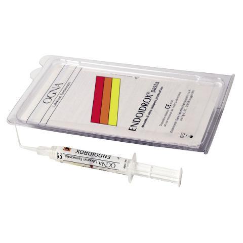 ENDOIDROX PASTA - Confezione: 1 siringa da 2,5 g + 20 puntali applicatori Ogna ENDOIDROX PASTA - Confezione: 1 siringa da 2,5 g