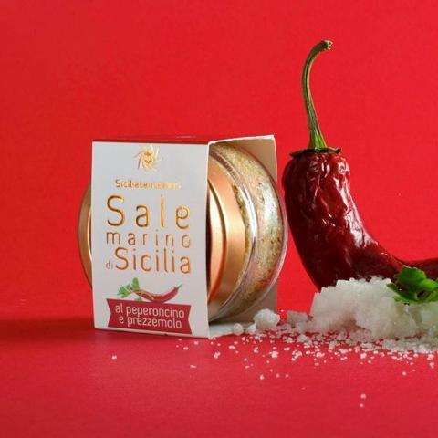 Sale marino di sicilia al peperoncino e prezzemolo SICILIA TENTAZIONI 110 g.