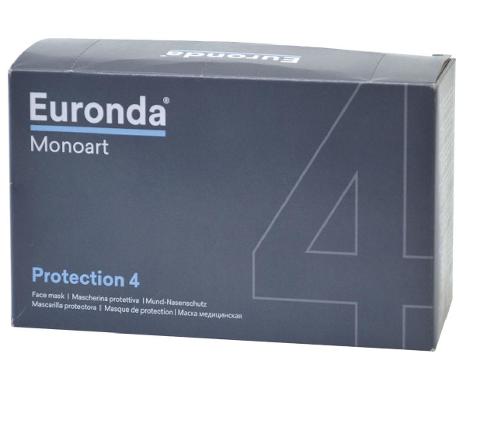 EURONDA MASCHERINE MONOUSO A 4 STRATI CONFEZIONE DA 50 PEZZI  EURONDA MONOART