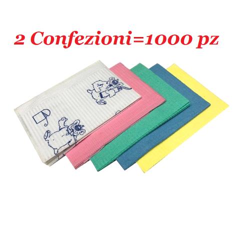 2 X SALVIETTE PLASTIFICATE 45x33 KUMAPAN 1000pezzi