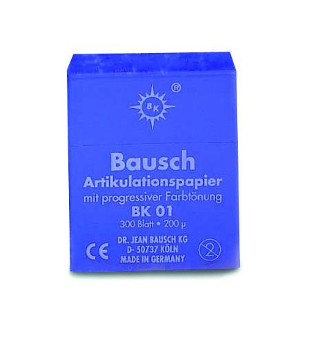 CARTA ARTICOLAZIONE BLU - 200 µ -  BAUSCH 300pz