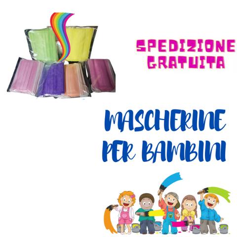 MASCHERINA CHIRURGICA COLORATA PER BAMBINI  SMC 3 CONFEZIONE DA 50 PZ