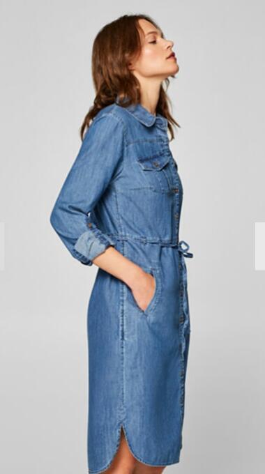 ABITO ESPRIT Abito leggero di jeans con cintura da annodare