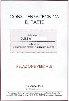 Consulente tecnico in perizie grafologiche e/o calligrafiche