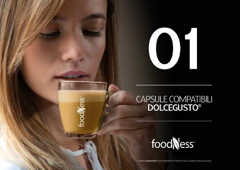 GINSENG CAFFE SPECIALI  TISANE  FOODNESS CAPSULE COMPATIBILI DOLCEGUSTO