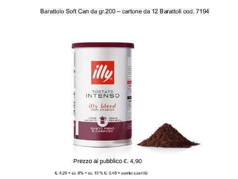 CAFFE ILLY BARATTOLO 100% ARABICA SOFT CAN GR.200 INTENSO