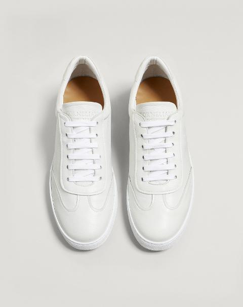 SNEAKERS BIANCHE IN CERVO Corneliani Sneakers