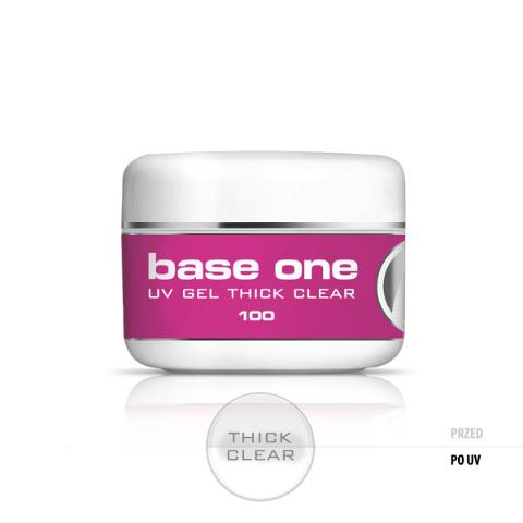 Base One Gel UV Thick Clear Silcare barattolo