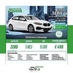 Noleggio Lungo Termine All Inclusive BMW Serie 1 116d Business Advantage 116cv Auto
