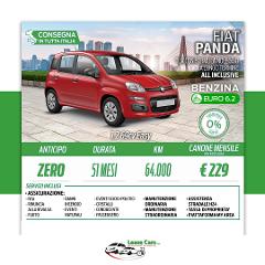 Noleggio Lungo Termine All Inclusive Fiat Panda Easy 1.2 69cv GPL