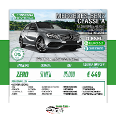 Noleggio Lungo Termine All Inclusive Mercedes - Benz Classe A 180d Automatic Business Extra