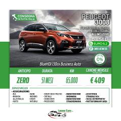 Noleggio Lungo Termine All Inclusive Peugeot 3008 BlueHDI 130cv Business Auto