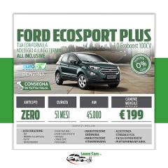 Noleggio Lungo Termine Ford EcoSport PLUS 1.0 EcoBoost 100cv