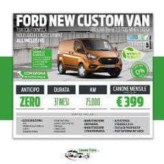 Noleggio Lungo Termine All Inclusive Ford Custom Van Trend 280 2.0 TDCI L1H1 130cv Hybrid