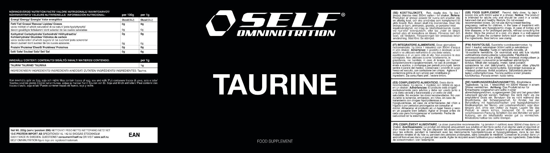 TAURINE 200 GR  SELF